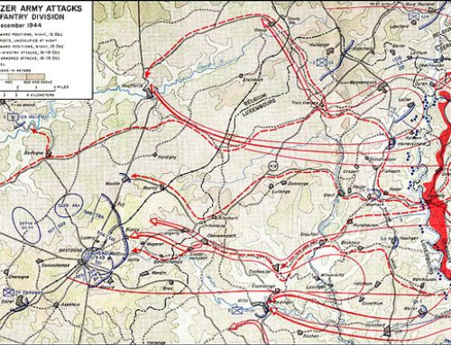 The Battle of the Bulge Southern Route Map