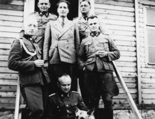SS-Obersturmführer Rudolf Suttrop and Fellow SS Officers at Gross-Rosen