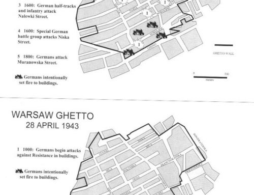 Daily Maps of the Warsaw Ghetto Fighting