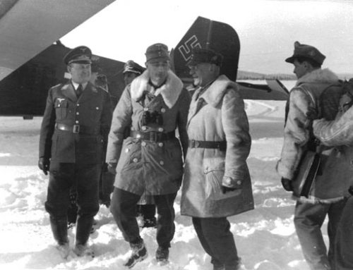 General Eduard Dietl Coming Off His Plane