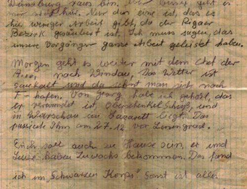 Einsatzkommando 3 – Brief, 16 Januar 1942