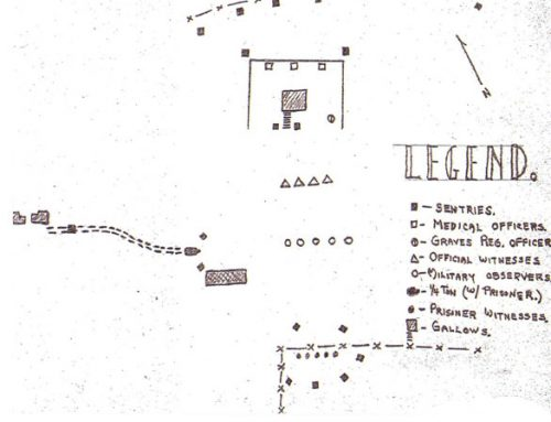 Sketch of Execution Site at the Loire Disciplinary Training Center