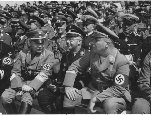 Heinrich Himmler with Martin Bormann
