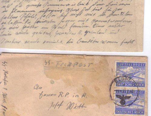 Sonderkommando Letter dated September 17, 1943