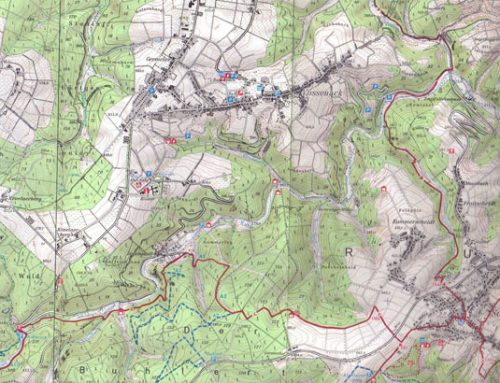Modern Map of the Southern Hürtgen Forest