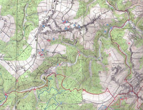 Modern Map of the Southern Hürtgen Forest