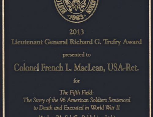 The Fifth Field Wins the Lieutenant General Richard G. Trefry Award