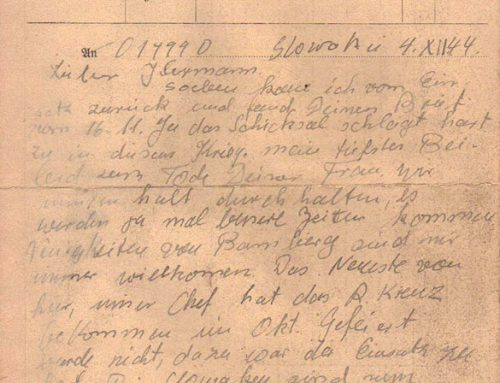 Sturmbrigade Dirlewanger Letter dated December 4, 1944