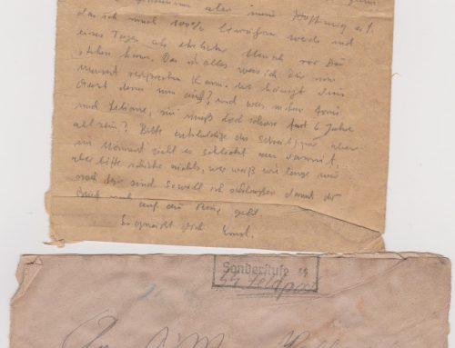 Sonderkommando Letter dated July 11, 1944