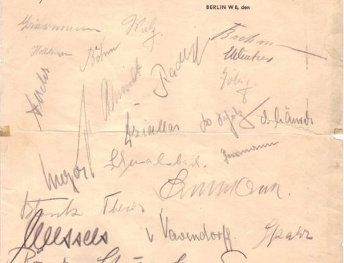 Autographed Stationery of U-47 Crew from the Hotel Kaiserhof