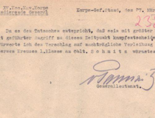 Vorschlag Verleihung Eisernen Kreuzes 1. Klass (3. seite)