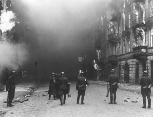 Waffen-SS Burning Out the Resistance in the Warsaw Ghetto