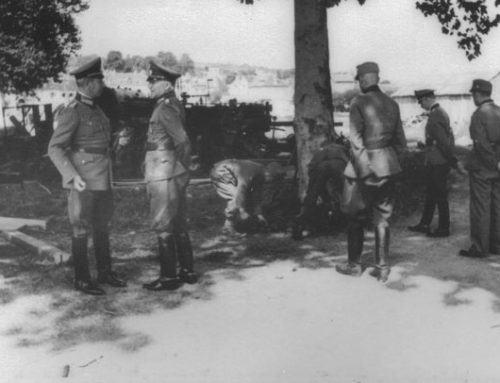 Site Where General Speck Was Killed in France